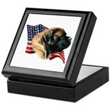 English mastiff memorial Square Keepsake Boxes