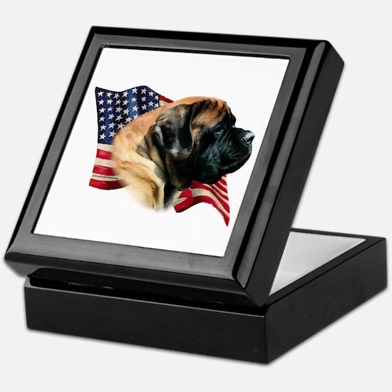 Mastiff(apr) Flag Keepsake Box