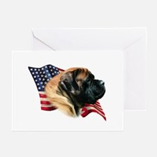 Mastiff(apr) Flag Greeting Cards (Pk of 10)