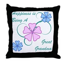 Happiness Great Grandma Throw Pillow