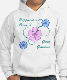Happiness Great Grandma Hoodie