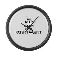 Keep calm I'm the Patent Agent Large Wall Clock