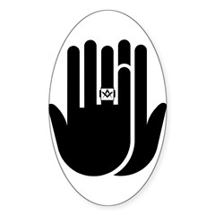 The Masons Ring Oval Decal