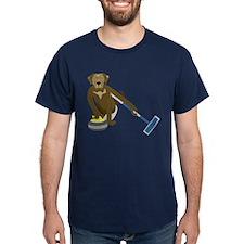 Chocolate Lab Curling T-Shirt