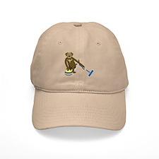 Chocolate Lab Curling Baseball Cap