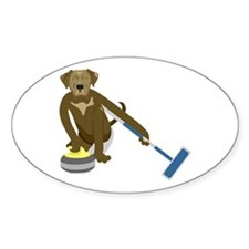 Chocolate Lab Curling Decal