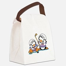 Ice Hockey Penguins (1) Canvas Lunch Bag
