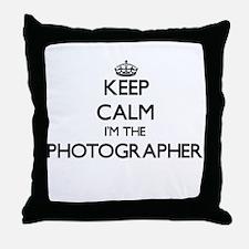 Keep calm I'm the Photographer Throw Pillow