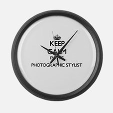 Keep calm I'm the Photographic St Large Wall Clock