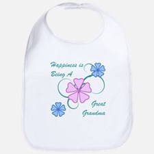 Happiness Great Grandma Bib