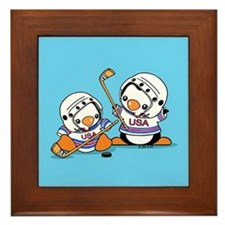 Ice Hockey Penguins (1) Framed Tile