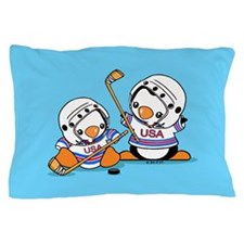 Ice Hockey Penguins (1) Pillow Case