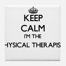 Keep calm I'm the Physical Therapist Tile Coaster