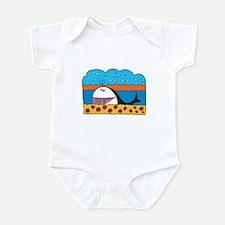 Colorful Happy Whale Cartoon Infant Bodysuit