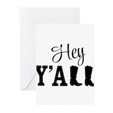 Hey Y'all Greeting Cards