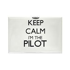 Keep calm I'm the Pilot Magnets