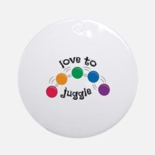 Love To Juggle Ornament (Round)