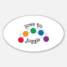 Love To Juggle Decal