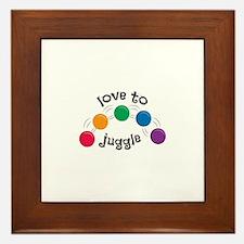 Love To Juggle Framed Tile