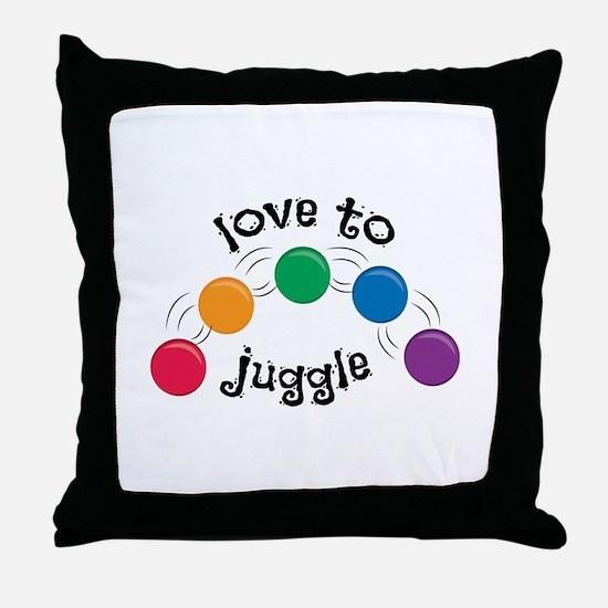 Love To Juggle Throw Pillow