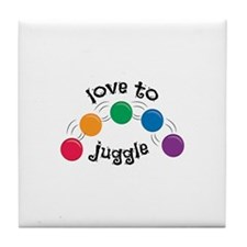 Love To Juggle Tile Coaster