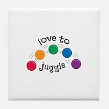 Love To Juggle Tile Coaster