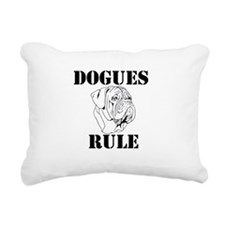 Dogues Rule Rectangular Canvas Pillow