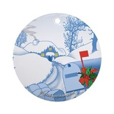 Country Christmas Round Ornament