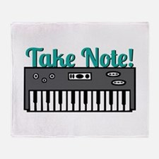 Take Note Throw Blanket