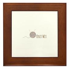 Knit Wit Framed Tile