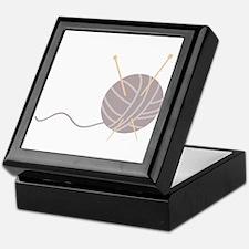 Knit Needles Ball Keepsake Box