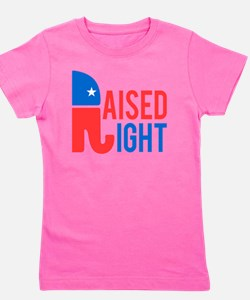 Raised Right Conservative Girl's Tee