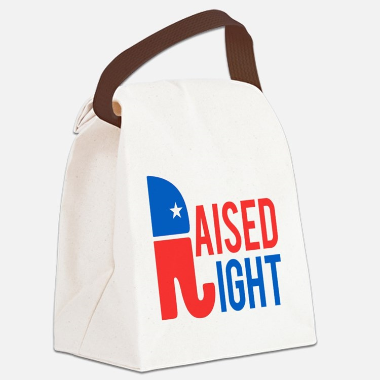 Raised Right Conservative Canvas Lunch Bag
