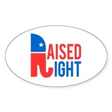 Raised Right Conservative Decal