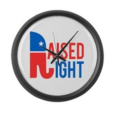 Raised Right Conservative Large Wall Clock