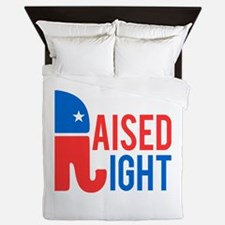 Raised Right Conservative Queen Duvet
