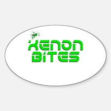 Xenon Bites Oval Decal