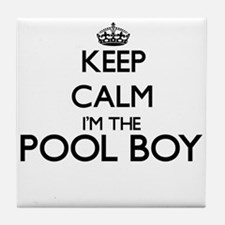 Keep calm I'm the Pool Boy Tile Coaster
