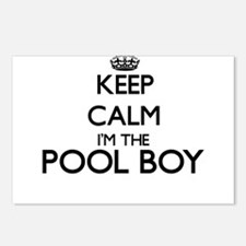 Keep calm I'm the Pool Bo Postcards (Package of 8)