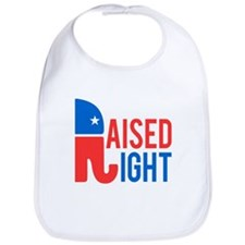 Raised Right Conservative Bib