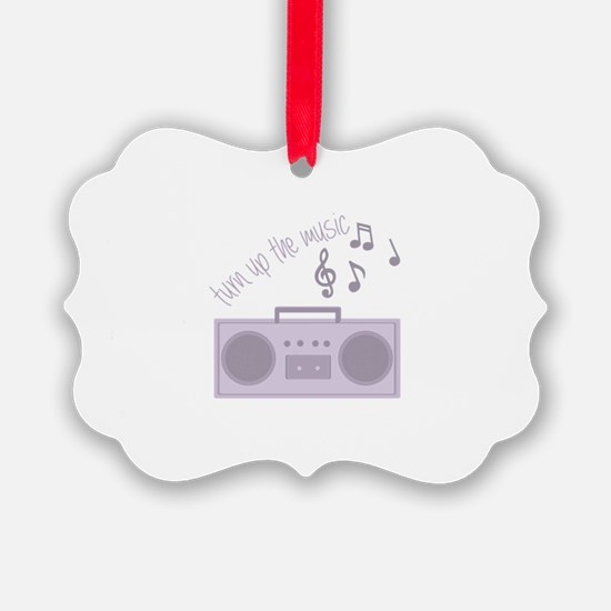 Turn Up Music Ornament