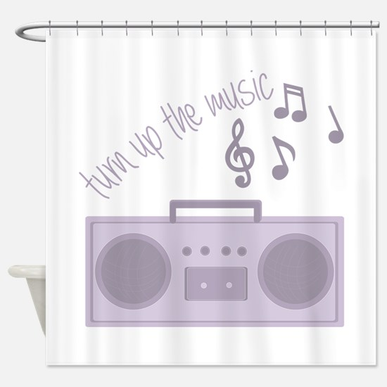 Turn Up Music Shower Curtain