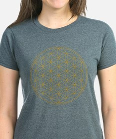 Flower of Life Gold Line Tee