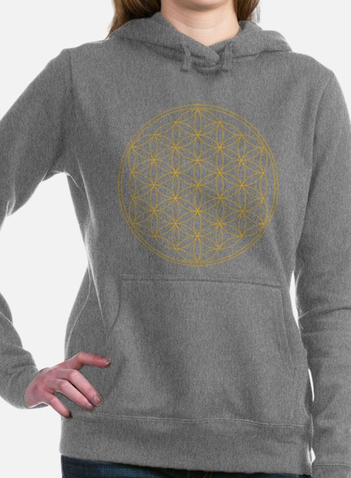 Flower of Life Gold Line Women's Hooded Sweatshirt