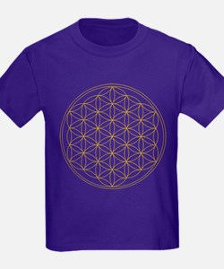 Flower of Life Gold Line T