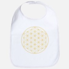 Flower of Life Gold Line Bib