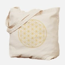 Flower of Life Gold Line Tote Bag