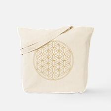 Flower of Life Gold Line Tote Bag