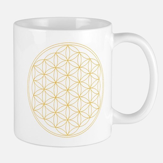 Flower of Life Gold Line Mug
