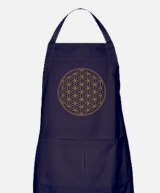 Flower of Life Gold Line Apron (dark)